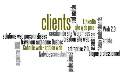 Gobeille web [édition web et réseaux sociaux] Clients