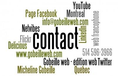 Gobeille web [édition web et réseaux sociaux] Contact